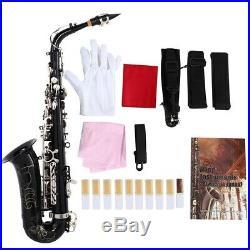 SLADE Mediant Alto Saxophone E Flat For Student Beginner Sax With Case Black