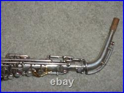 Selmer Modele 1922 Alto Sax/Saxophone, Original Silver, Plays Great