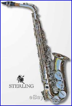 Silver Alto Sax Brand New STERLING Eb Saxophone Case and Accessories