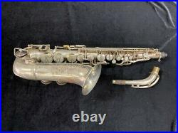 Silver Plated Adolphe Sax 84 Rue Myrha Alto Saxophone Serial # 368