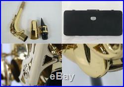 USED Alto Sax YAMAHA / YAS-62 Gold Lacquer Finish Free shipping