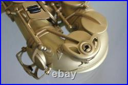 Venus ALTO Eb SAXOPHONE Sax Unique MATTE GOLD Color Finish Case & Accessories
