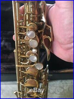 Vintage 1946 Buescher Aristocrat BIG B Alto sax True Tone #312468 plays amazing