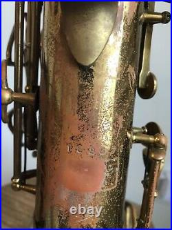 Vintage 1952 The Martin Alto Committee Saxophone Sax With Original Case End Cap