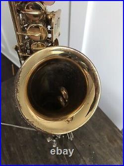 Vintage 1970 Conn Shooting Star Mexico Alto Saxophone Sax With Case + Mouthpiece