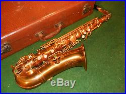Vintage'30s Cavalier Pan American 92M Alto Sax Saxophone Nice Case Mouth Piece