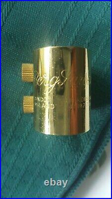 Vintage Berg Larsen Alto Sax Gold Plated Metal Mpc 80/1/SMS Withcap & Lig