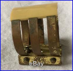 Vintage Brilhart Inverted Ligature Alto Sax Mouthpiece Ligature Size 2 with Cap