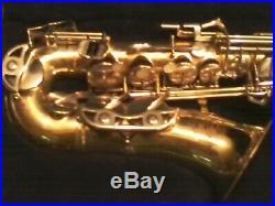 Vintage Buescher Aristocrat 200 USA Alto Saxophone Sax Pretty Decent Player