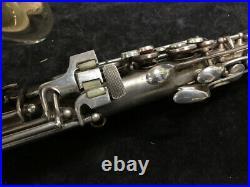 Vintage CG Conn New Wonder II'Chu Berry' Alto Sax in Silver Plate Serial 204180