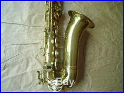 Vintage Elkhorn Stencil Alto Sax Made in Italy by Rampone or Orsi