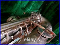 Vintage Frank Holton Saxophone Sax Elkhorn Wis C-Melody Alto Horn