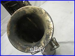 Vintage Frank Holton Saxophone Sax Elkhorn Wis Low Pitch C-Melody Alto Horn
