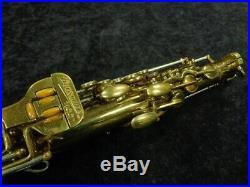 Vintage Original Lacquer Buescher 400 Top Hat and Cane Alto Sax, Serial # 301989