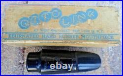Vintage Otto Link Slant Alto Saxophone Mouthpiece No Usa, Box, Cap+ligature