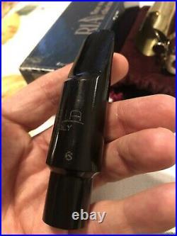 Vintage Ria 6 alto sax mouthpiece Withcap, ligature & box