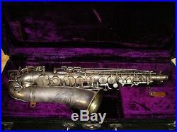Vintage Silver Holton Rudy Wiedoeft Alto Sax