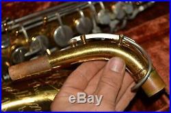 Vtg 1950s MARTIN Alto Saxophone THE INDIANA +Case +Hang Tag TYPE 1 SAX
