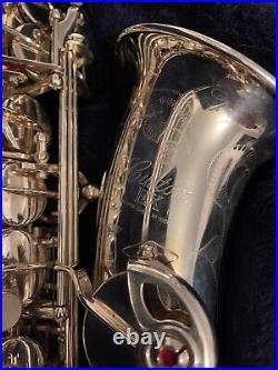 Wow! Yamaha Yas-875ex Custom Silver Alto Saxophone Sax With Nice Extras Look