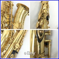 YAMAHA YAS-62II 2nd Generation Alto Saxophone Sax Tested Used WithHard Case Ex++