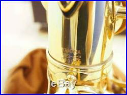 Yamaha YAS-62 Saxophone Alto Sax Gold Lacquered With Case Accessory F/S Japan